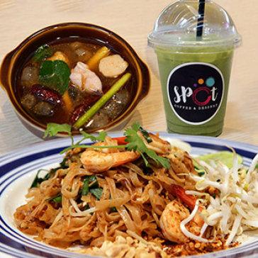 Combo Pad Thái Tôm/ Bò + 01 Súp + 01 Trà Sữa Thái Xanh/ Đỏ - Nhà...