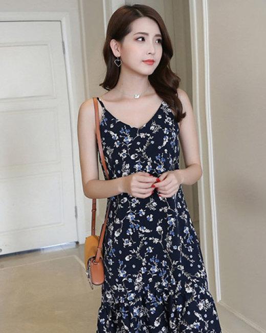 Đầm Hoa Kella Đuôi Cá