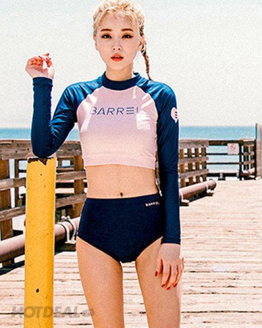 Đồ Bơi Và Gym Nữ Tay Dài Croptop Xinh Xắn