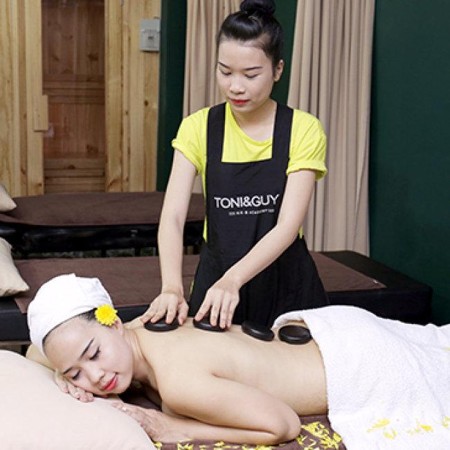 Massage Body Đá Nóng/ Tinh Dầu + Xông Hơi + Ấn Huyệt + Ngâm Chân