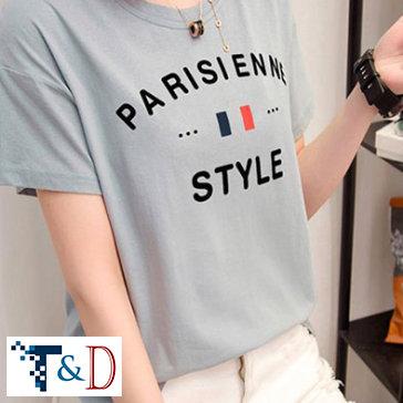 Áo Thun Form Rộng Parisienne - Thương Hiệu T&D
