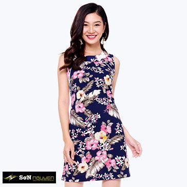 Đầm Suông Hoa Đính Nơ – TH Sơn Nguyễn 03801