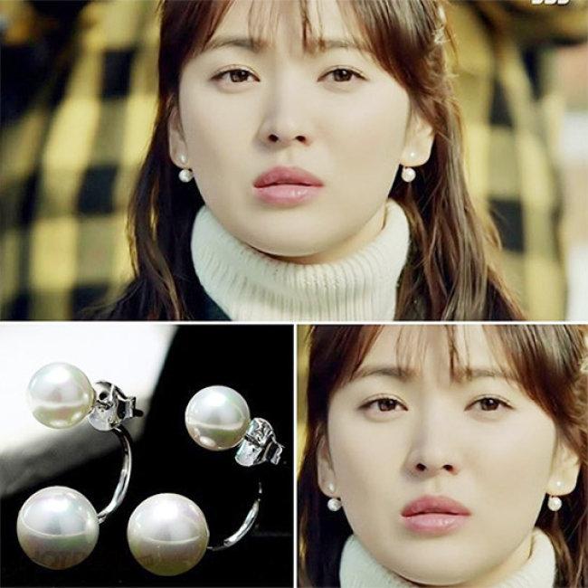 Combo 2 Bông Tai Cánh Cung Ngọc Trai Style Hàn Quốc