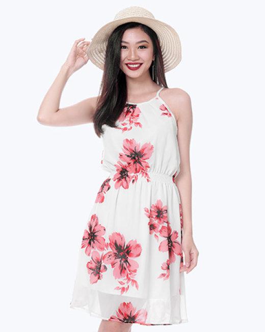 Đầm Cổ Yếm Họa Tiết Shibi SB089