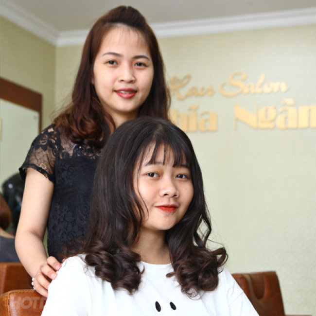 Combo Trọn Gói Làm Tóc Đẹp + Tặng Hấp Ozon  Tại Salon Nghĩa Ngân
