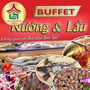 Buffet Lẩu Nướng Tặng Peppsi Tại NH Lẩu Hội Quán - Vincom Time...