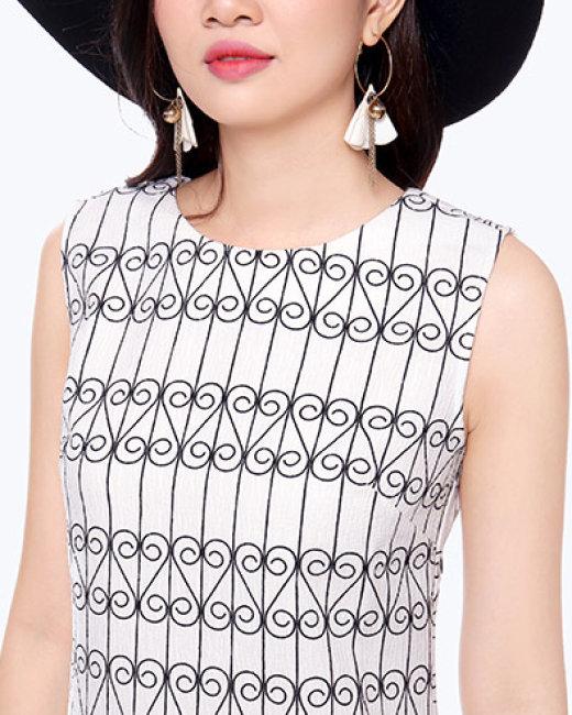 Đầm Suông Hoa Chân 16002 – TH Sơn Nguyễn