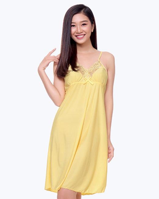 Đầm Ngủ Thun Lạnh Phối Ren Cindy