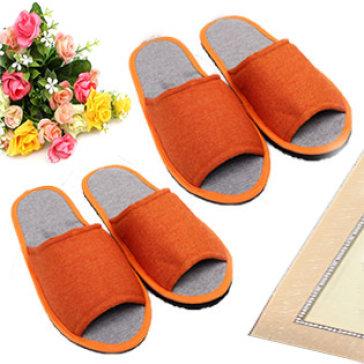Combo 2 Đôi Dép Mang Trong Nhà Vải Bố Mi Nguyễn (Size 39)