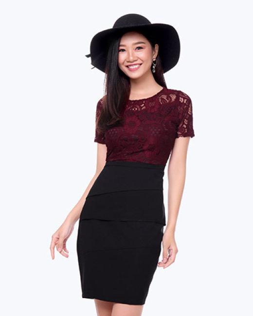 Đầm Lady Phối Ren Cao Cấp