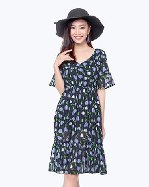 Đầm Đuôi Cá Tay Loe Fashions