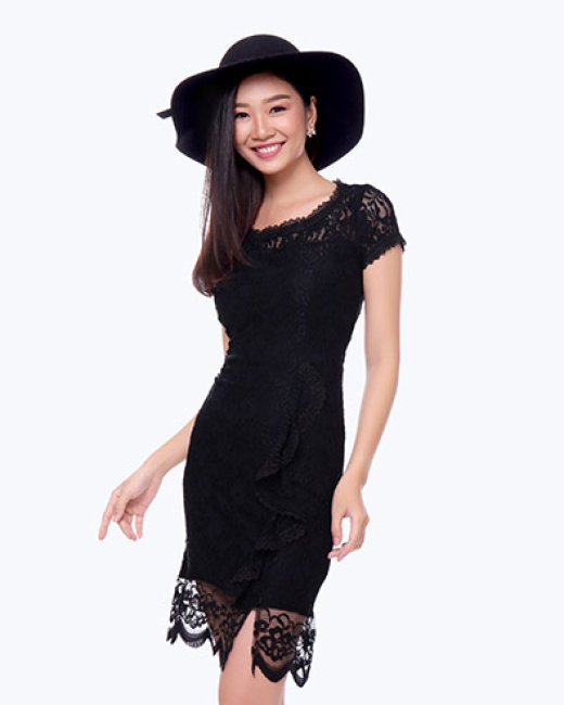 Đầm Ren Body Phối Bèo