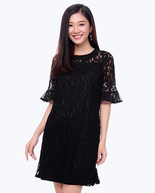 Đầm Ren Suông Tay Loe Cara