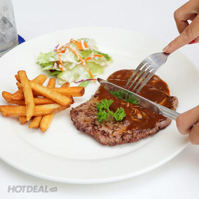 Thưởng Thức Combo Bò Beefsteak/ Mỳ Ý/ Cơm Chiên + Salad + Nước...
