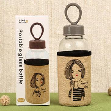 Bình Nước Cô Gái Sweet Girl Phong Cách Hàn Quốc