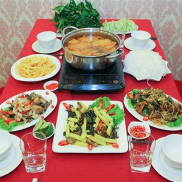 Lẩu Ếch Kèm Món Ăn Ngoài Cho 4-6 Người Tại Nhà Hàng Sơn Lâm