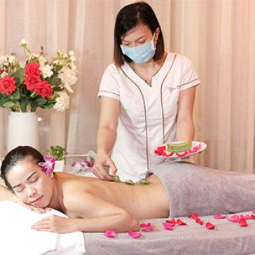 Massage Body Aroma Tinh Dầu Oải Hương/ Sả Gừng + Thanh Tẩy Cơ Thể...
