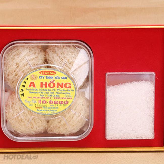 Combo 100gr Yến Sào A Hồng + 2 Tai Yến Trắng