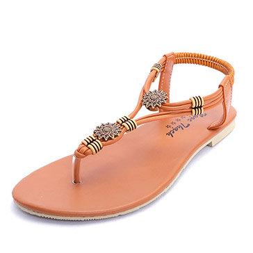 Giày Sandal Quai Hoa Văn Trẻ Trung