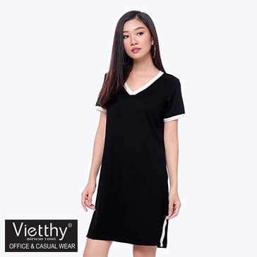 Đầm Cổ Tim Xẻ Tà 8300052 Thương Hiệu Việt Thy