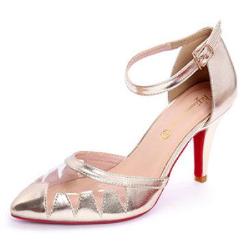 Giày Cao Gót Mũi Nhọn Cắt Laser KT Fashion Shoes B42