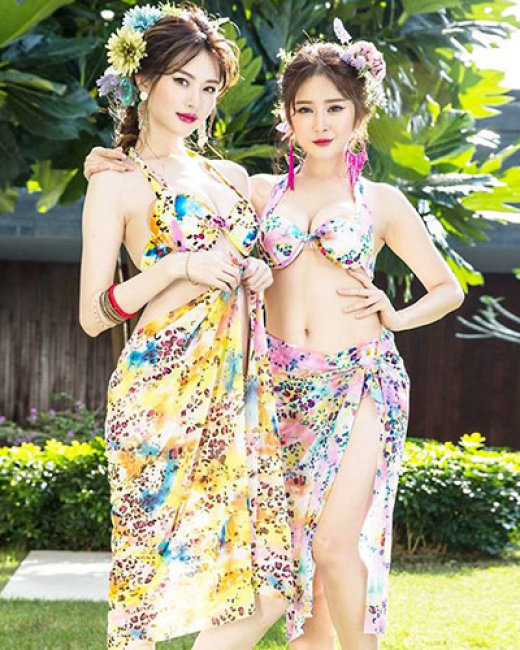 Set Bikini 3 Mảnh Phối Da Beo