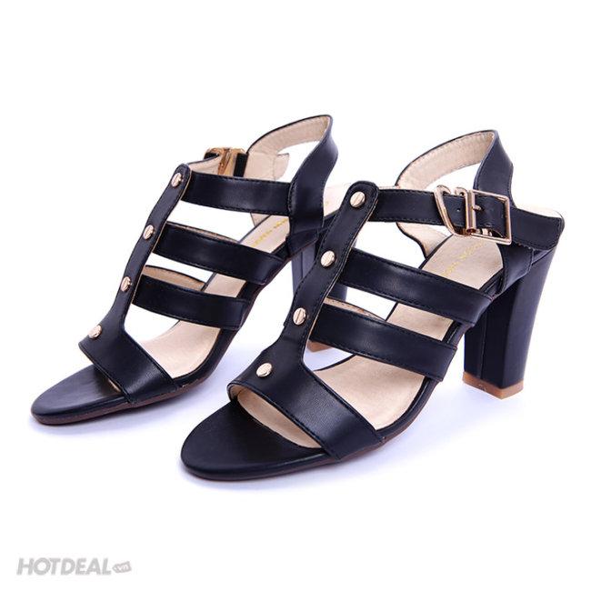 Giày Sandal Cao Gót Đan Dây KT Fashion Shoes L01