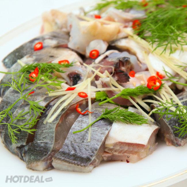 Đặc Sản Lẩu Cá Tầm Đủ Món Tại Nhà Hàng Vương Đô