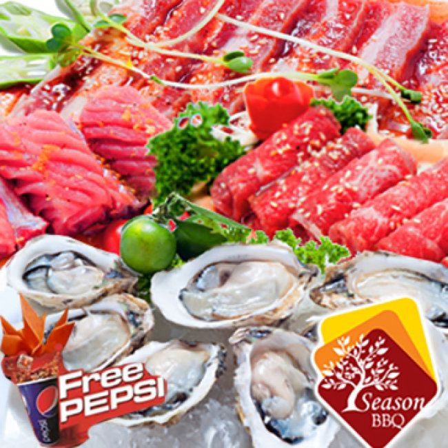 Buffet Nướng Và Lẩu Tại Season BBQ Miễn Phí Pepsi Tươi