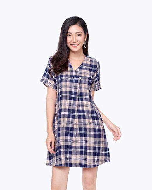 Đầm Xếp Ly Cổ 8300049 Thương Hiệu Việt Thy