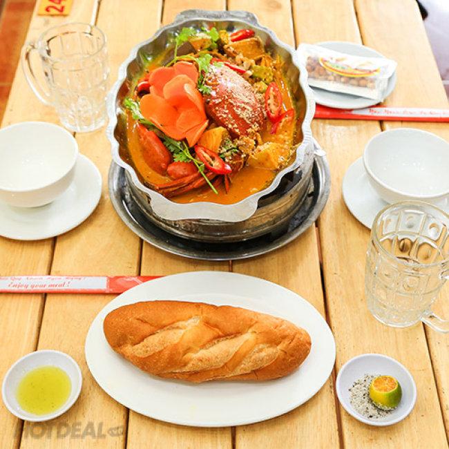 Nhà Hàng Nàng Cua – Combo Cà Ri Cua Nguyên Con + 1 Phần Bánh Mì
