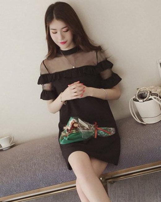 Đầm Wendy Tay Loe Phối Lưới
