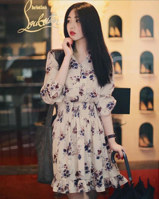 Đầm Xòe Bo Eo Mina