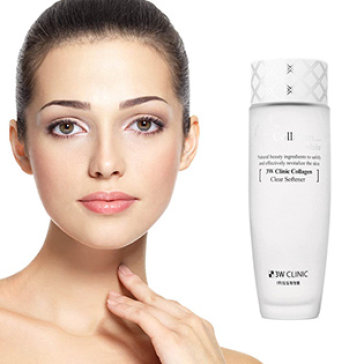 Nước Hoa Hồng Làm Trắng Da 3W Clinic Collagen Clear Softener