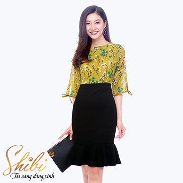 Đầm Công Sở Cao Cấp Shibi SB098