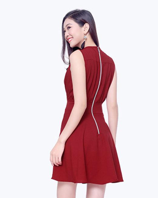 Đầm Tina Nhúng Eo Cổ Chéo