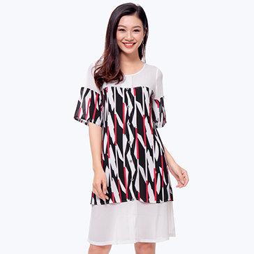 Đầm Họa Tiết Fashion Thương Hiệu Vĩnh Phát