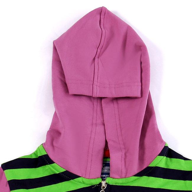 Áo Khoác Sọc Xanh Thun Cotton 4 Chiều Cho Bé (Size 1 Đến 8)