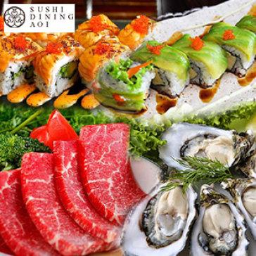 Buffet Trưa Sushi Dining AOI Nhật Bản Trên 100 Món Sushi, Sashimi Và Bò Mỹ