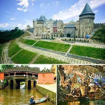 Tour Đà Nẵng- Hội An - Huế - Bà Nà Hill - Động Phong Nha 4N3Đ Nghỉ KS 3*, 4* -  Cho 1 Khách