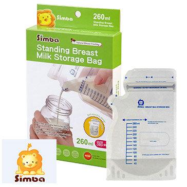 Túi Trữ Sữa 3D Dung Tích 260ML Hộp 25 Cái - Simba