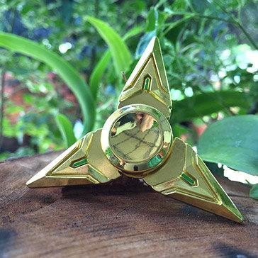 Hand Spinner Shuriken - Con Quay Phi Tiêu Ninja 3 Cánh Kim Loại