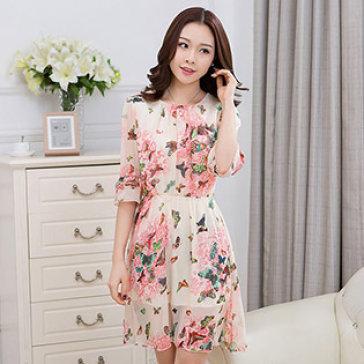 Đầm Bướm Tay Loe Hana