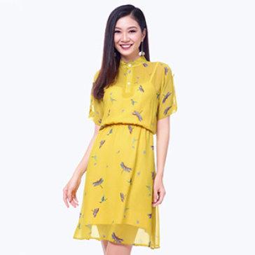 Đầm Cổ Trụ Bo Eo
