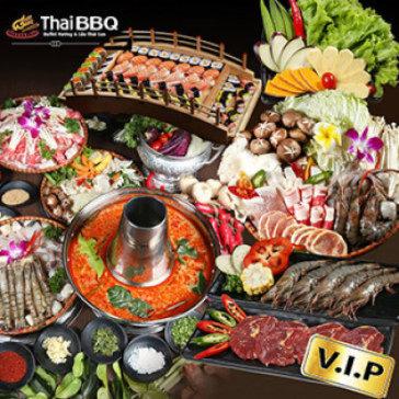 Buffet Thái BBQ Trưa/ Tối Lẩu, Nướng, Bò Mỹ & Sushi Tại Vincom Mega