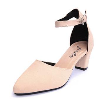 Giày Nữ Bít Mũi Cao Gót Sang Trọng