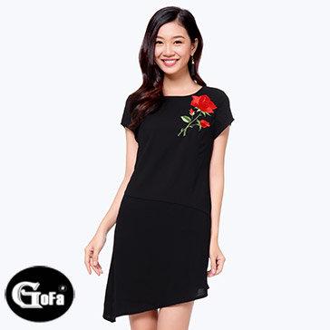 Đầm Tà Xéo Thêu Hoa - TT Gofa