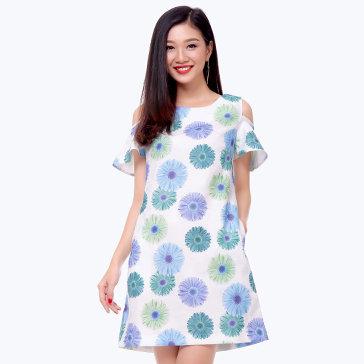 Đầm Form Suông Cutout - TH Quỳnh Vy
