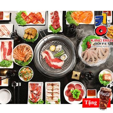 Buffet Nướng Lẩu King BBQ - Vua Nướng Hàn Quốc - Free Coca - Menu 279K
