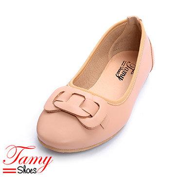 Giày Búp Bê Nơ Tròn Đan Dây Tamy Shoes 05